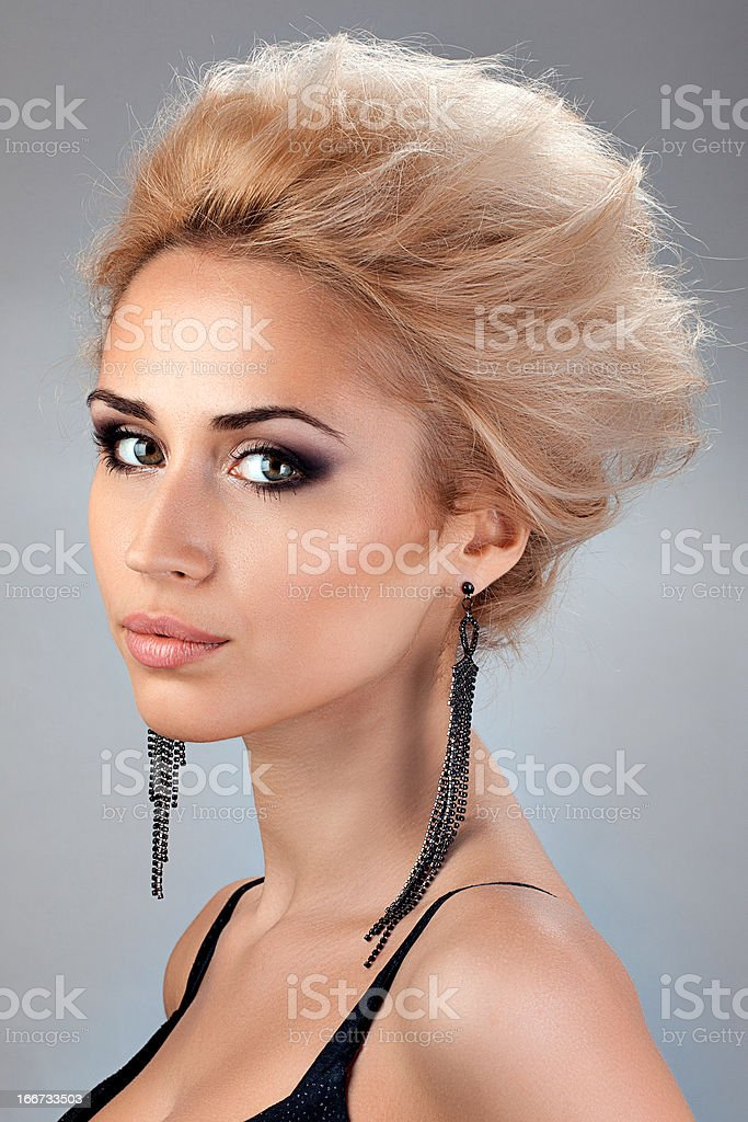 beautiful blonde with Short Hair royalty-free stock photo
