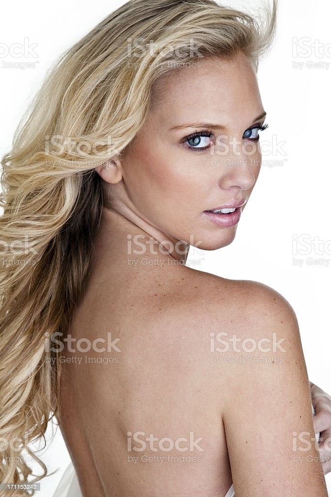 Beautiful blonde woman royalty-free stock photo