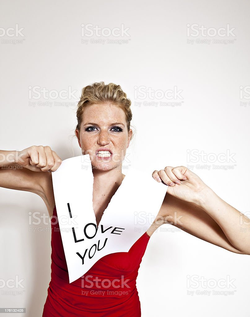 beautiful blonde young no love anymore royalty-free stock photo