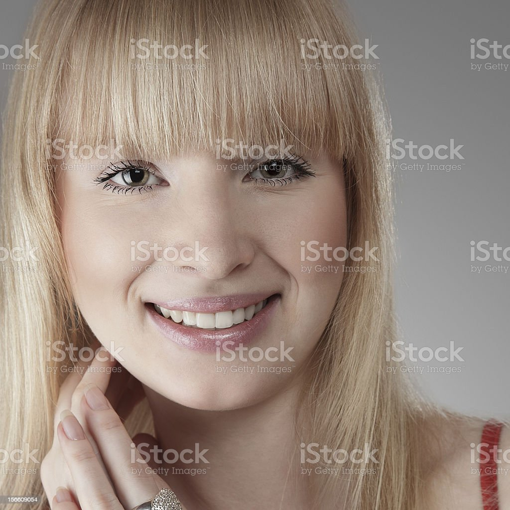 Beautiful blonde young woman royalty-free stock photo