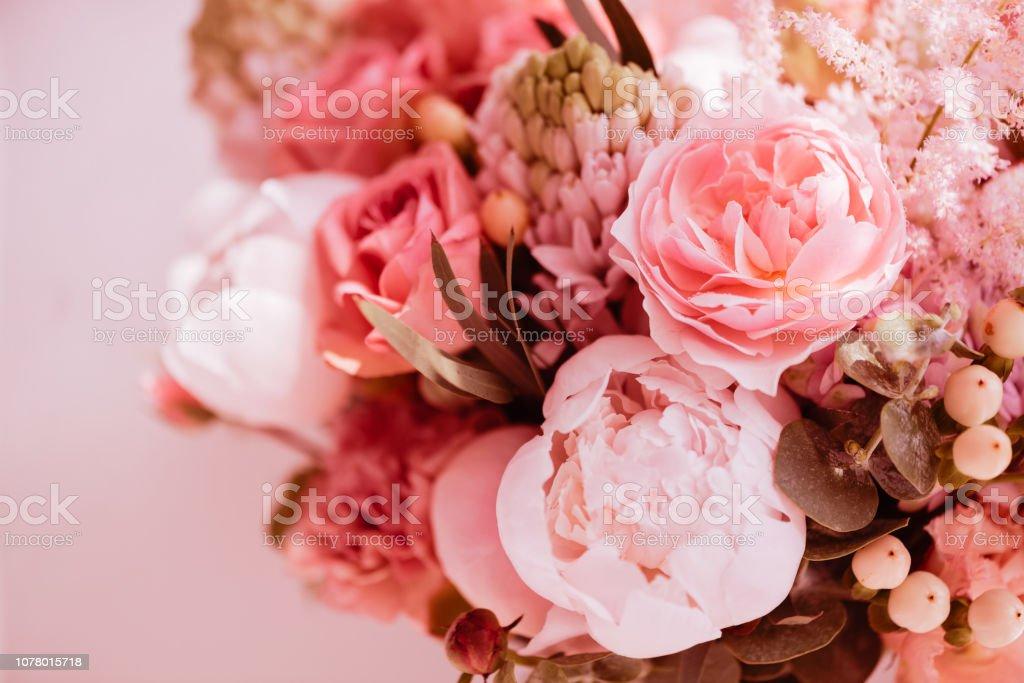 Beautiful blossoming flowers. stock photo