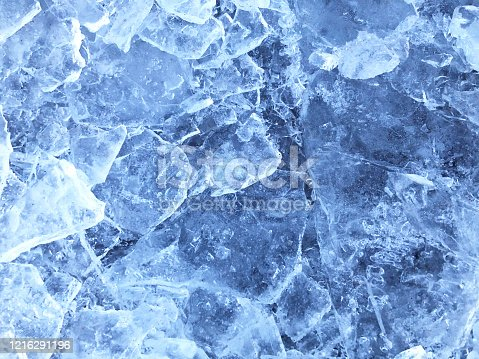 Beautiful blue abstract background of ice texture.