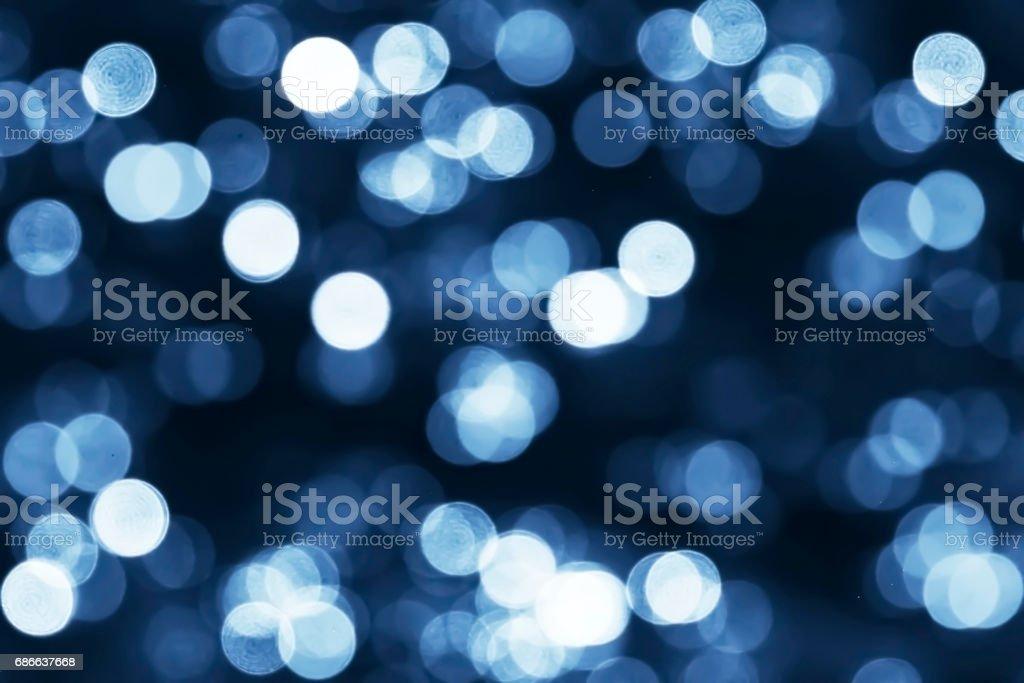 Beautiful Blue Bokeh Blur Background. royalty-free stock photo