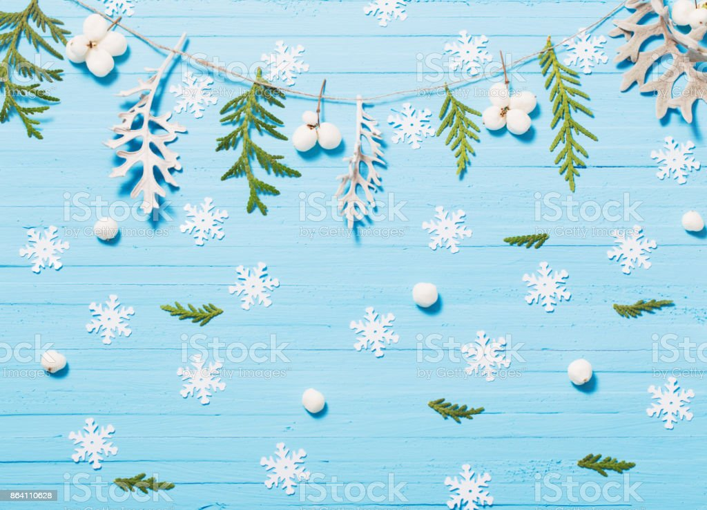beautiful blue  Christmas background royalty-free stock photo