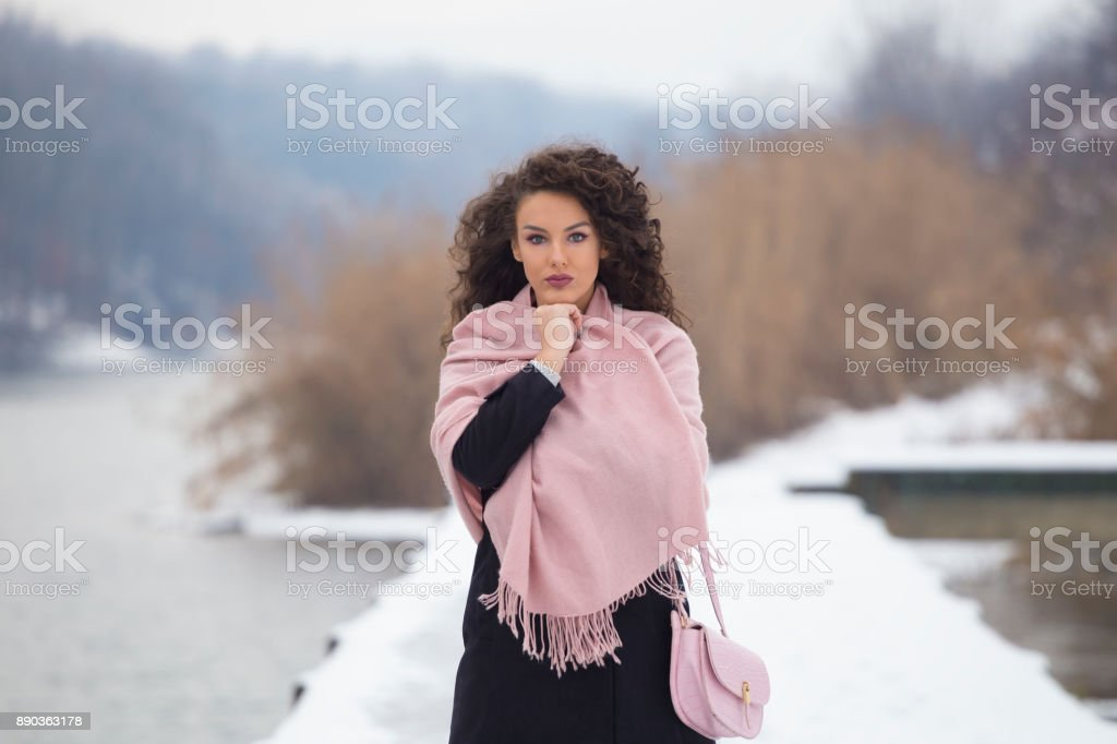 Photo is taken outdoors on cold winter day