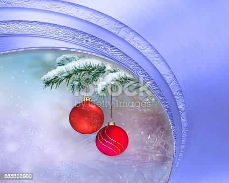 istock Beautiful blue holiday background 855368660