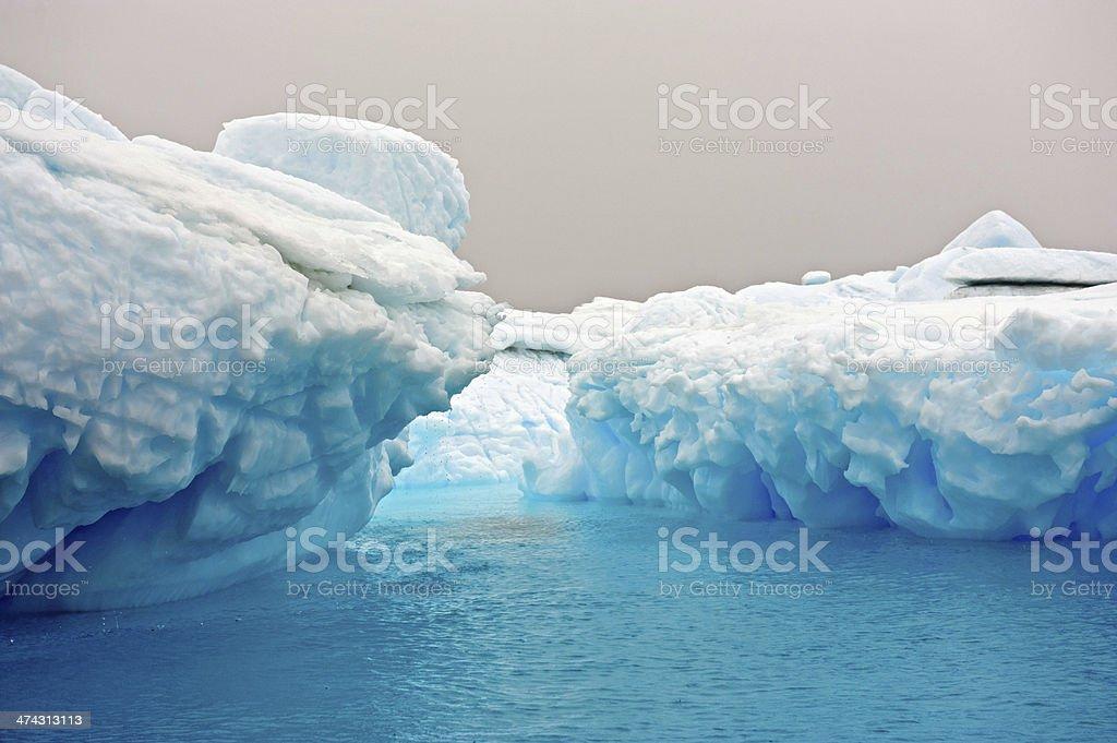 Beautiful blue iceberg stock photo