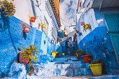 istock Beautiful blue medina of Chefchaouen town in Morocco Africa. 1000168234