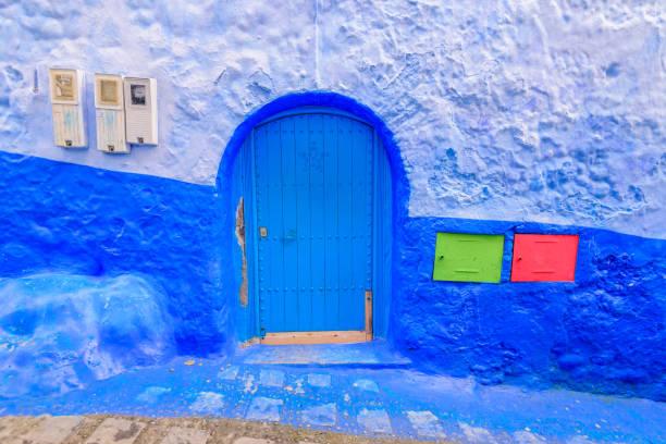 Schöne blaue Medina von Chefchaouen Stadt – Foto