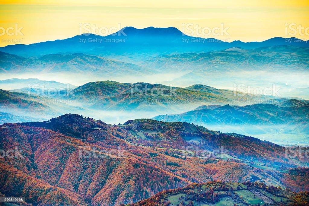 Beautiful blue mountains royalty-free stock photo