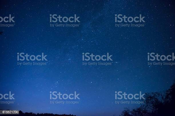 Photo of Beautiful blue night sky with many stars