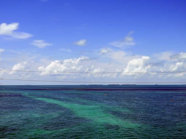 Beautiful Blue Ocean stock photo
