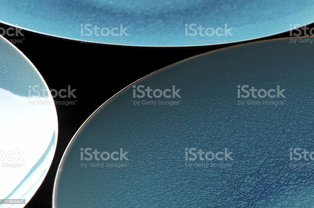 Beautiful Blue Plates royalty-free stock photo