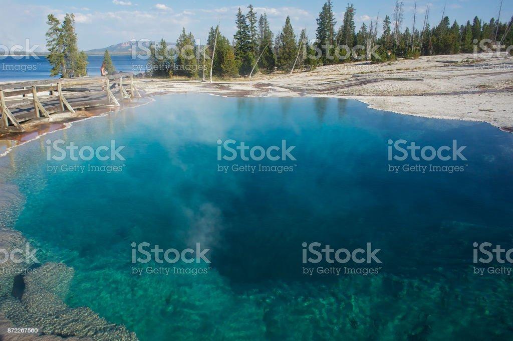 Beautiful Blue Pool stock photo