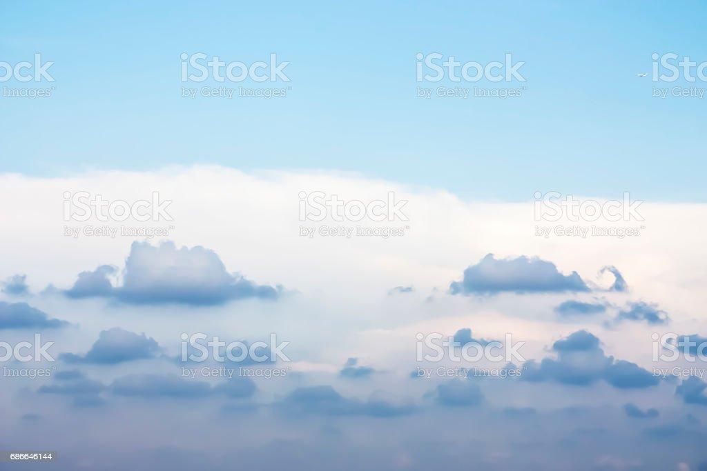 Güzel mavi gökyüzü ve bulutlar. royalty-free stock photo