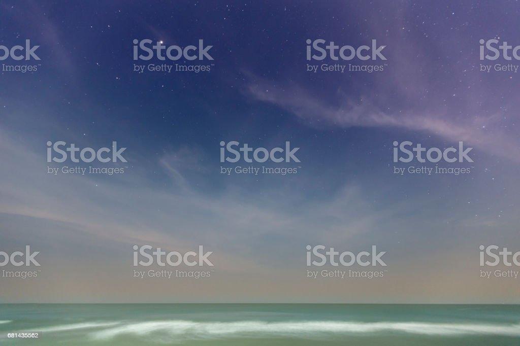 beautiful blue sky and stars royalty-free stock photo
