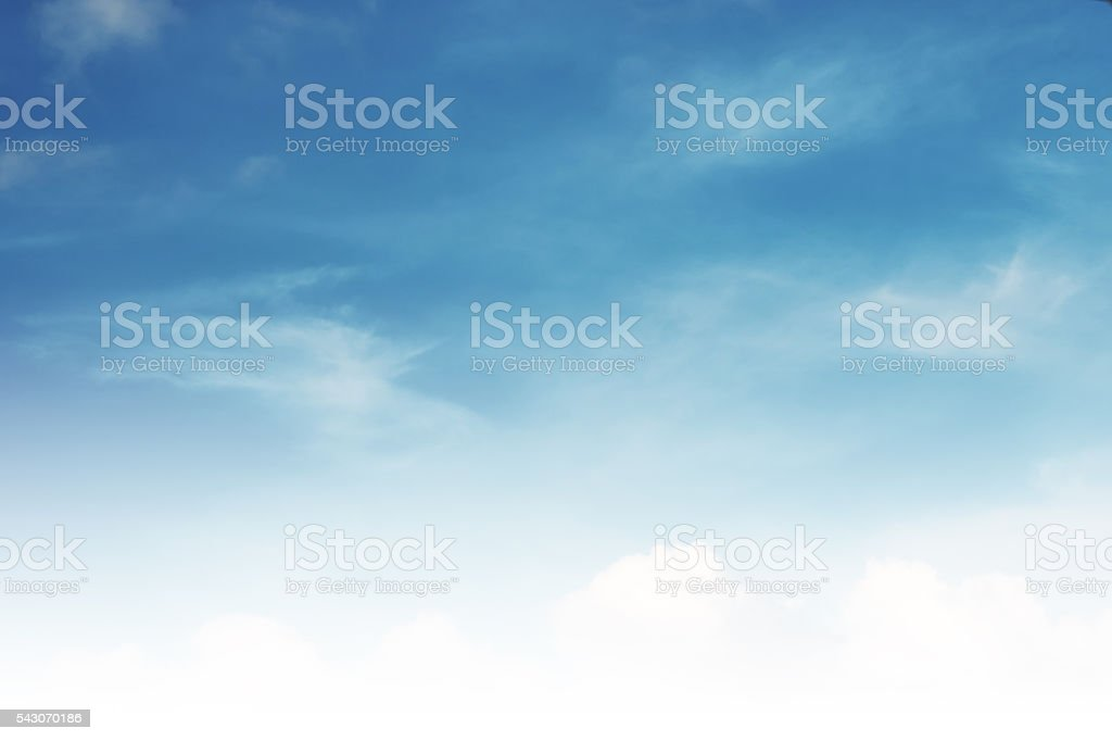Beautiful blue sky and white clouds stock photo