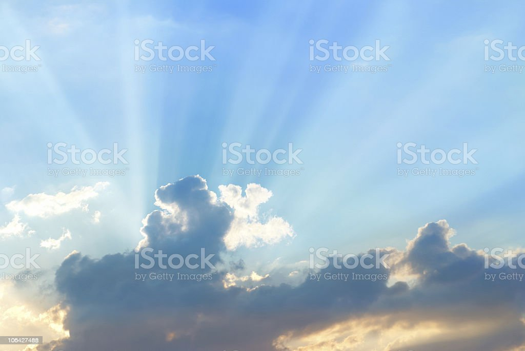 Beautiful blue sky royalty-free stock photo