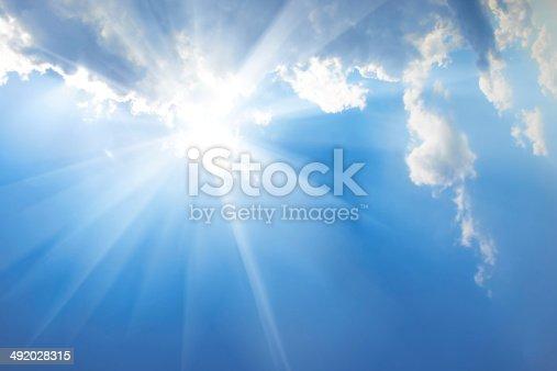 184857129istockphoto Beautiful blue sky 492028315