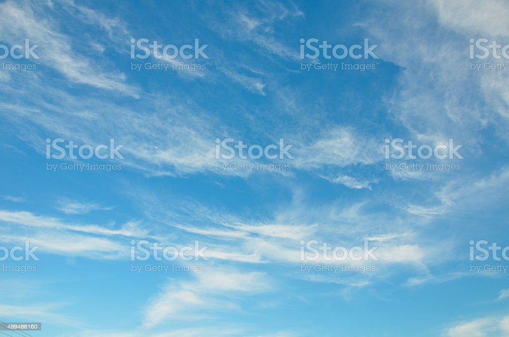 beautiful blue sky stock photo