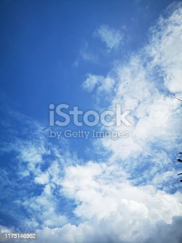 807443942 istock photo Beautiful blue sky with cloud and copy space 1173146952