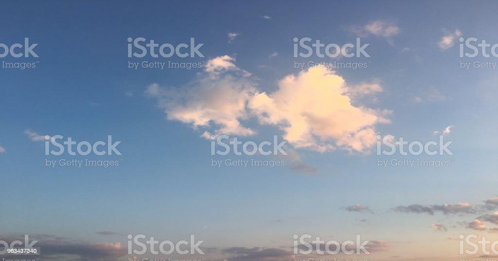 beautiful blue sky with clouds background.Sky with clouds weather nature cloud blue.Blue sky with clouds and sun. - Zbiór zdjęć royalty-free (Atmosfera - Wydarzenia)