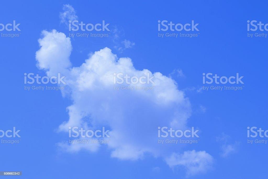 Beautiful Blue Sky With Giant White Elephant Shaped Clouds