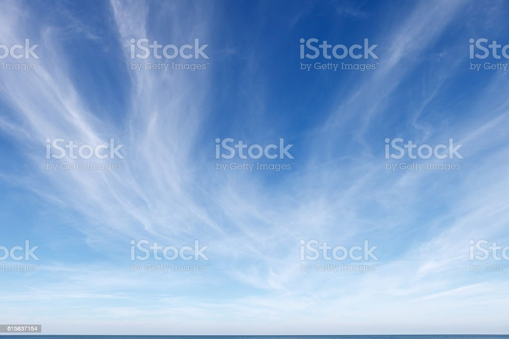 beautiful blue sky with white Cirrus clouds – Foto