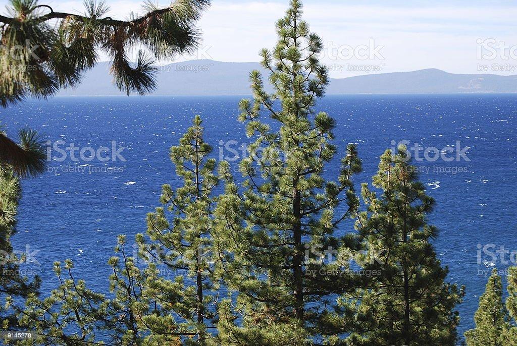 Beautiful Blue Waters of Lake Tahoe royalty-free stock photo
