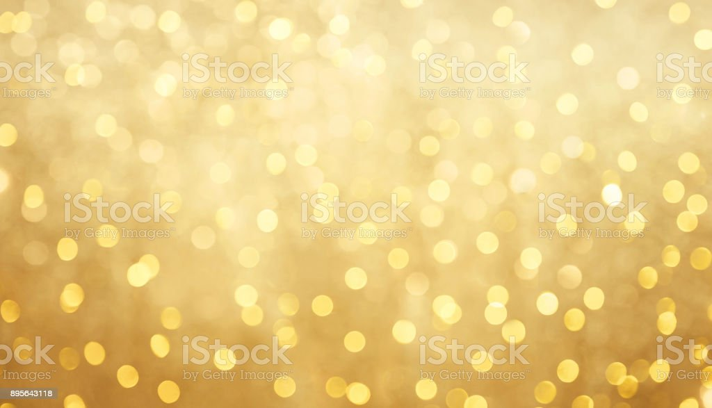 Beautiful blurred golden bokeh background stock photo