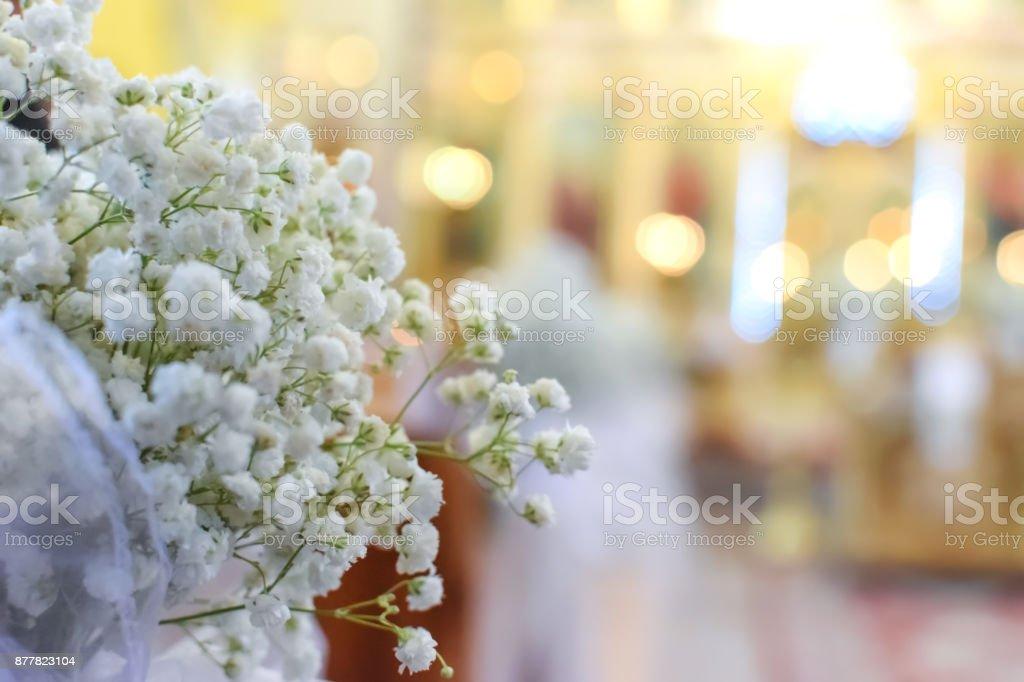 Beautiful blurred weeding background stock photo