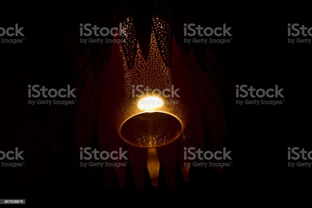 Beautiful blurry ceiling lights isolated unique photo stock photo