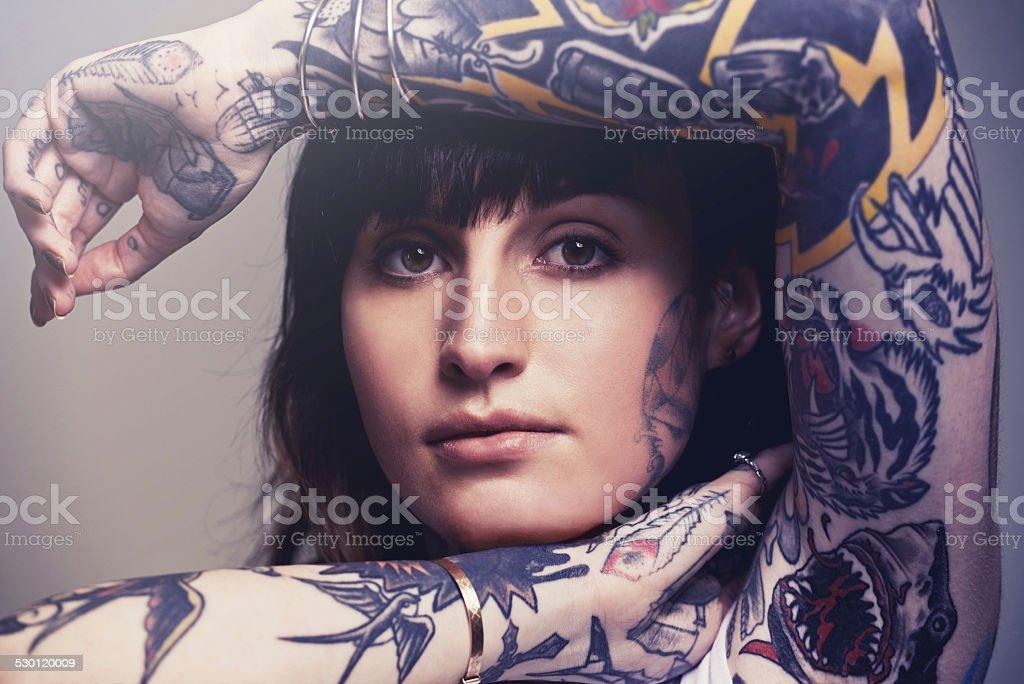 Beautiful body art stock photo