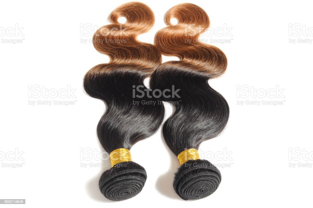 body wave black to light auburn ombre human hair weave extensions...