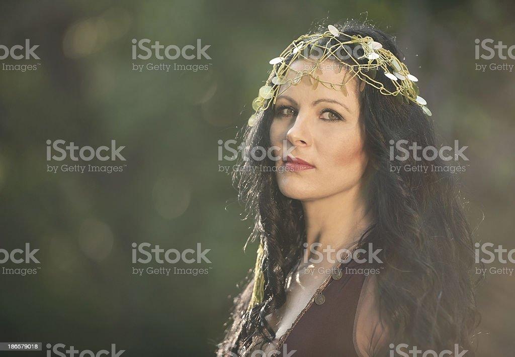 Beautiful Bohemian Gypsy Woman royalty-free stock photo