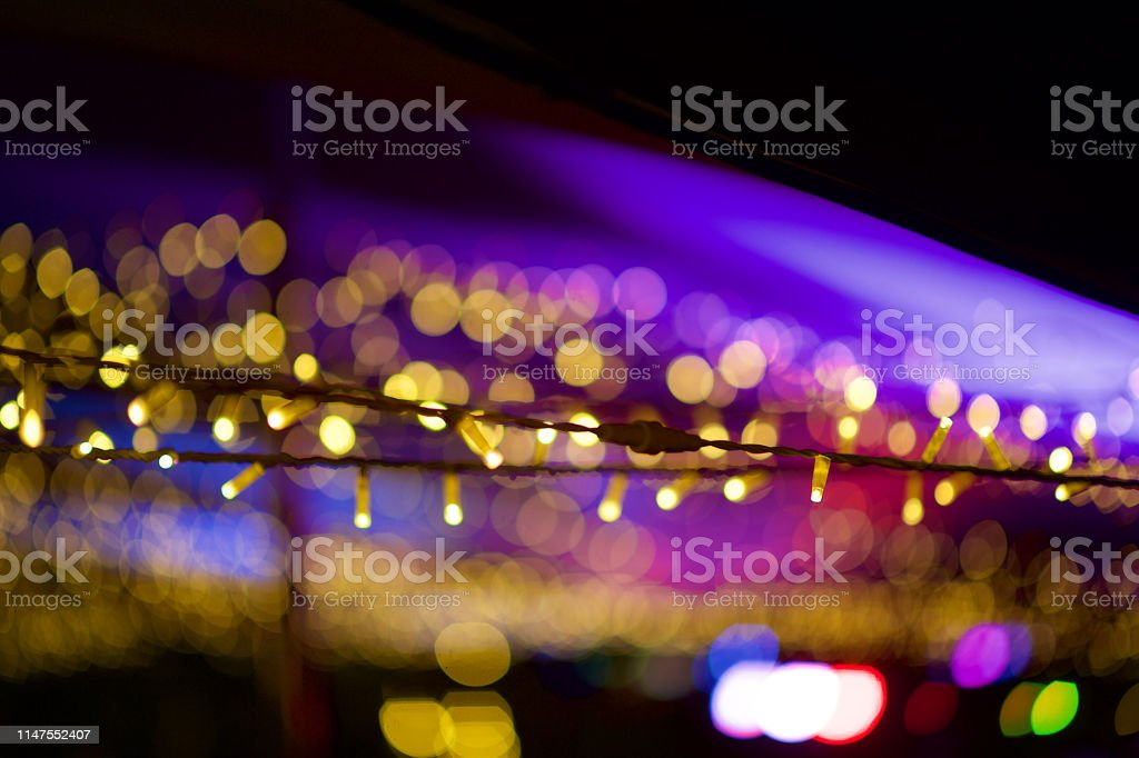 Image of: Beautiful Bokeh String Fairy Lights At An Outdoor Tent Defocussed Stock Photo Download Image Now Istock