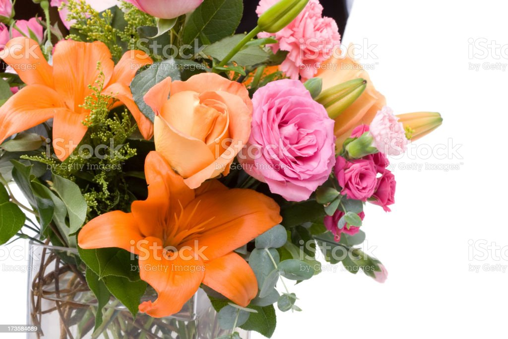 Beautiful boquet of flowers up close royalty-free stock photo