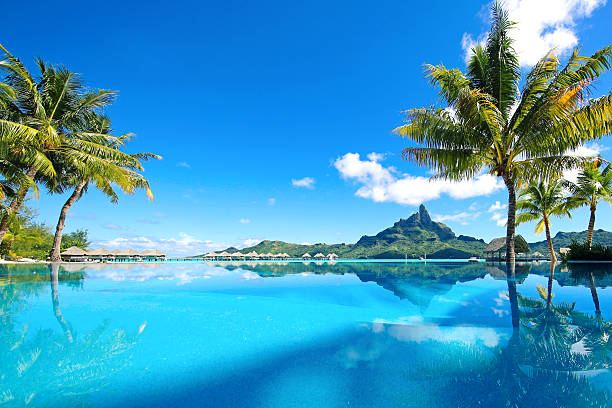 beautiful bora bora tahiti - pacific islands stock pictures, royalty-free photos & images