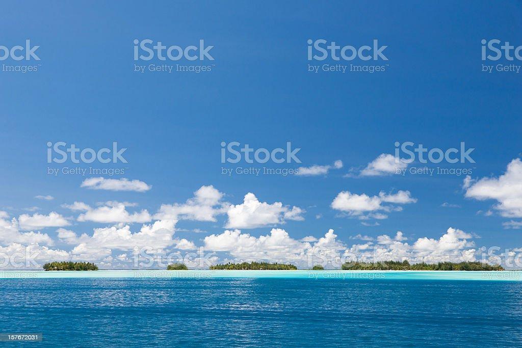Beautiful Bora-Bora Lagoon Islets royalty-free stock photo