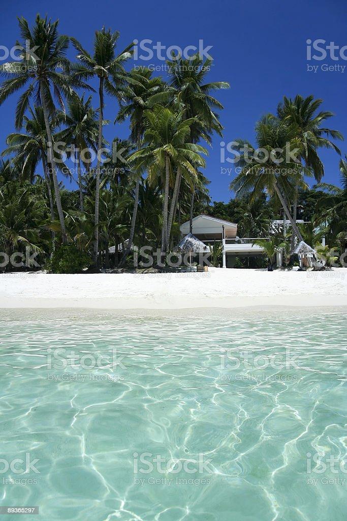 Belle plage de l'île de boracay, philippines photo libre de droits
