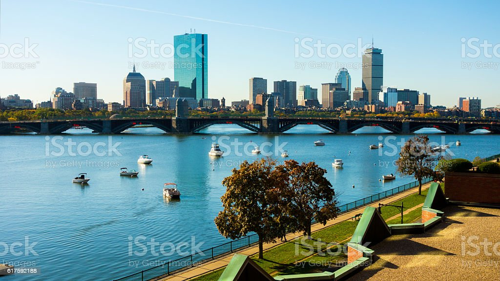 Beautiful Boston, Massachusetts, USA stock photo