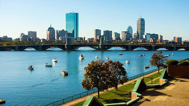 Beautiful Boston, Massachusetts, USA stock photo