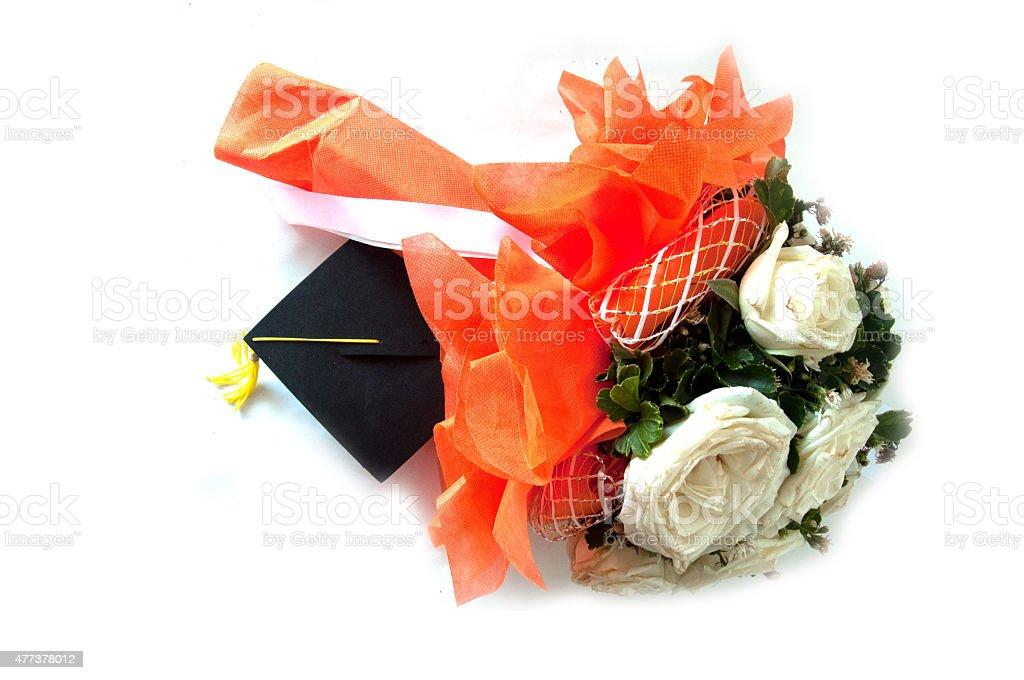 Hermoso ramo de flores para graduados - foto de stock