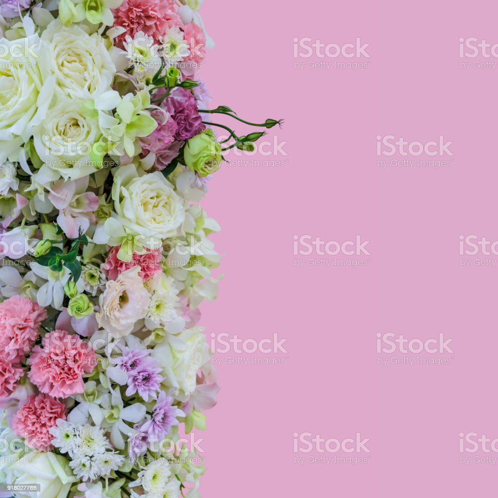 Beautiful Bouquet Flowers With Different Types Of Colorful Flowers ...