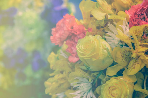 Beautiful bouquet flowers with different types of yellow flowers beautiful bouquet flowers with different types of yellow flowers stock photo more pictures of anniversary istock mightylinksfo