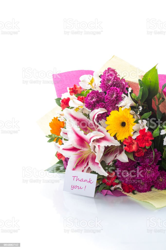 beautiful bouquet of different flowers royalty-free stock photo