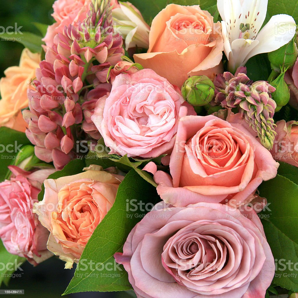 Beautiful Bouquet Of Flowers In Soft Colours Stock Photo More