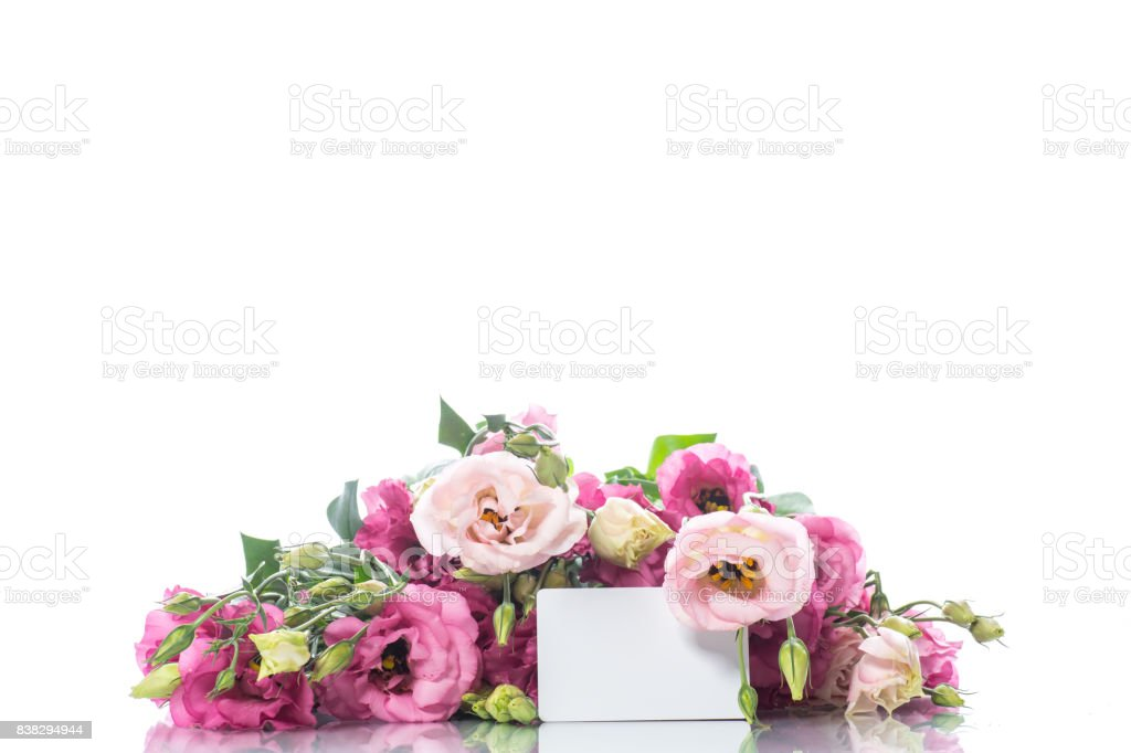 Beautiful bouquet of pink lisianthus flowers stock photo more beautiful bouquet of pink lisianthus flowers royalty free stock photo mightylinksfo