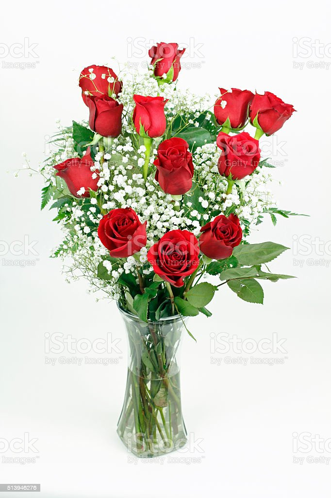 Beautiful Bouquet of Red Roses stock photo