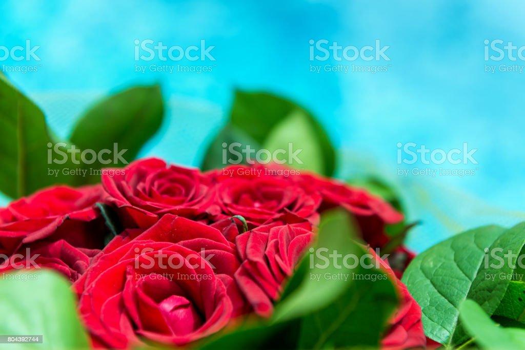 Lindo buquê de rosas vermelhas - foto de acervo
